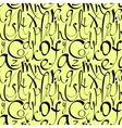 Seamless pattern with decorative letters vector