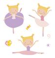 Lillte ballerinas vector