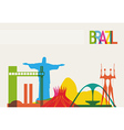 Brazil tourism skyline vector