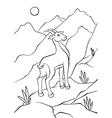 Atnelope walking on rocks vector