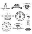 Set of vintage logo badgeemblem and logotype vector