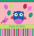 Birthday template greeting card vector