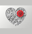 Heart and gear vector