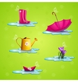 Spring set of icons vector