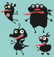 Happy monsters - set 11 vector