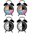 Retro alarm clocks vector