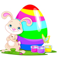 Cute bunny and easter egg vector