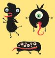 Happy monsters - set 12 vector