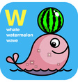 Abc whale watermelon wave vector