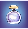 Beautiful perfume bottle vector