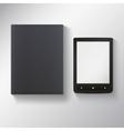 E-book with blank black book vector