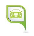 Car green pointer vector