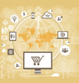 Business networking online store service concept vector