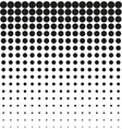 Abstract background black white halftone vector