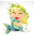 Baby zodiac - sign pisces vector