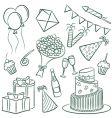 Birthday doodle vector
