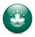 Round glossy icon of macau vector