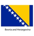 Flag of the country bosnia and herzegovina vector