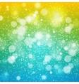 Christmas rainbow  background yellow green blue vector