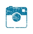 Grunge square camera icon vector