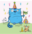 Birthday card funny vector