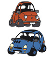 Funny small cars vector