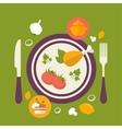 Healthy food concept vintage style vector