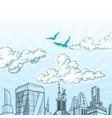 City sky vector
