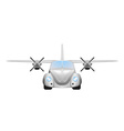 Retro flying car vector