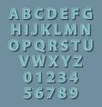 Retro style alphabet concept vector