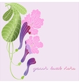 Leaflet with exotic flowers vector