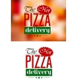 Pizza delivery emblem or label vector
