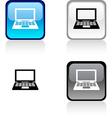 Notebook button vector