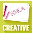 Idea card business background concept desig vector