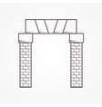 Line icon for arch entrance vector