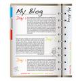 Web blog page vector