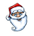 Smiling santa claus face vector