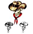 Skull in cowboys hat vector