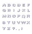 Hand drawn font doodle alphabet childish abc vector