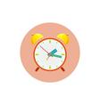 The alarm clock icon vector