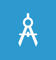 Compasses icon white on the blue background vector