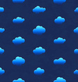 Clouds in the night sky seamless pattern vector