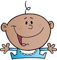 Happy african american baby boy vector