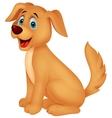 Cute dog cartoon vector