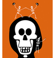 Halloween greetings skulll background vector