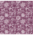 Seamless purple-white vintage pattern vector