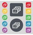 Mp3 music format sign icon musical symbol set vector