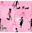 Dog girls seaml 1 380 vector