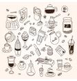 Hand drawn sketch doodle vintage simple coffee vector