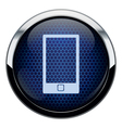 Blue honeycomb phone icon vector
